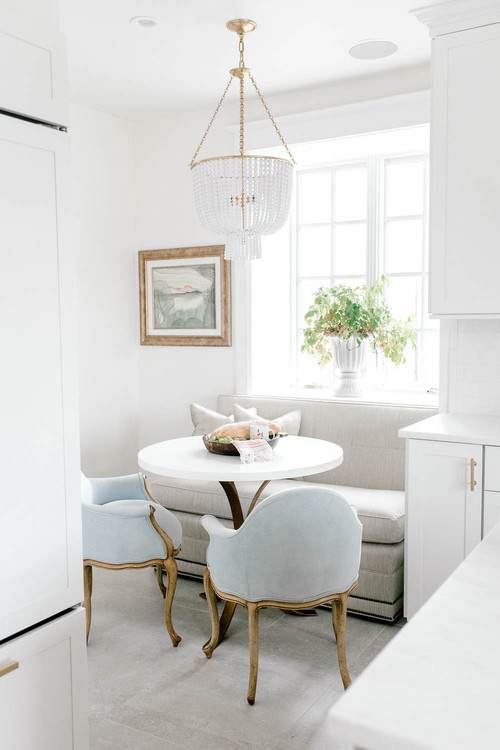 Breakfast Nook Banquette with Upholstered Loveseat