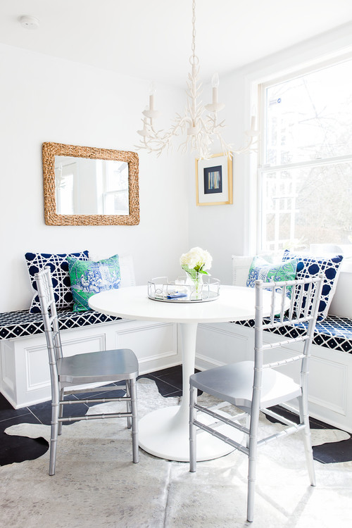 Built-in Breakfast Nook Banquette in a Corner