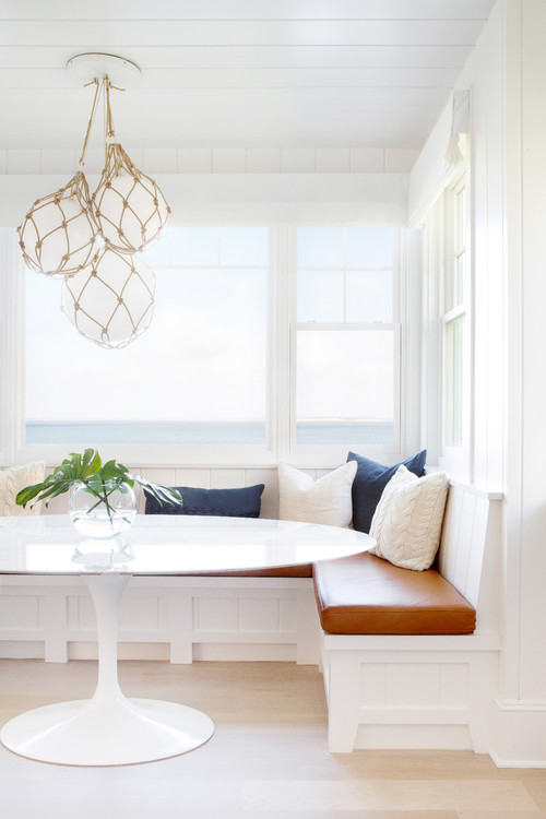Built-in Breakfast Nook Banquette with Coastal Style