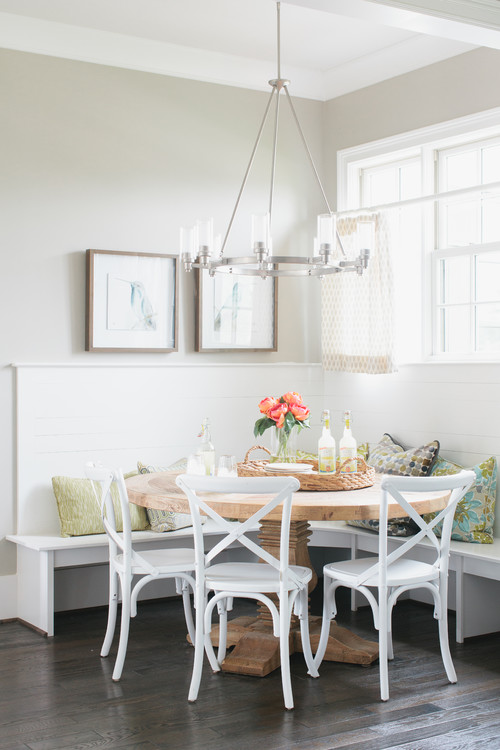 Built-in Breakfast Nook Banquette with Corner Bench