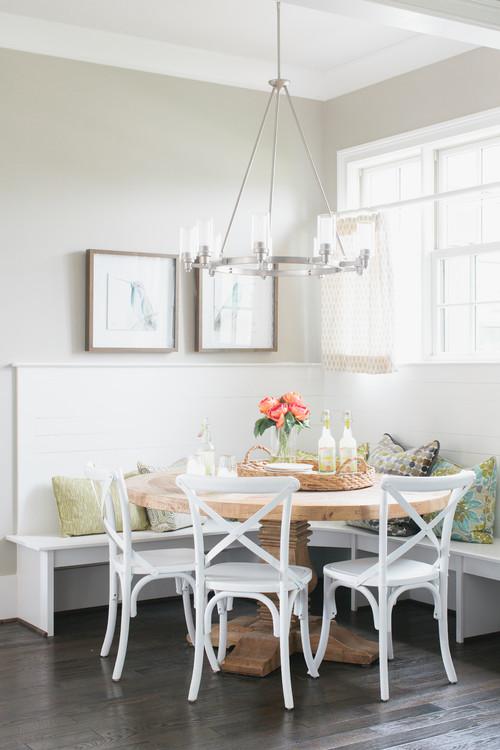 Built-in Breakfast Nook Banquette with Corner Bench