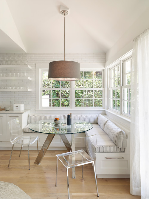 Built-in Breakfast Nook Banquette with Storage