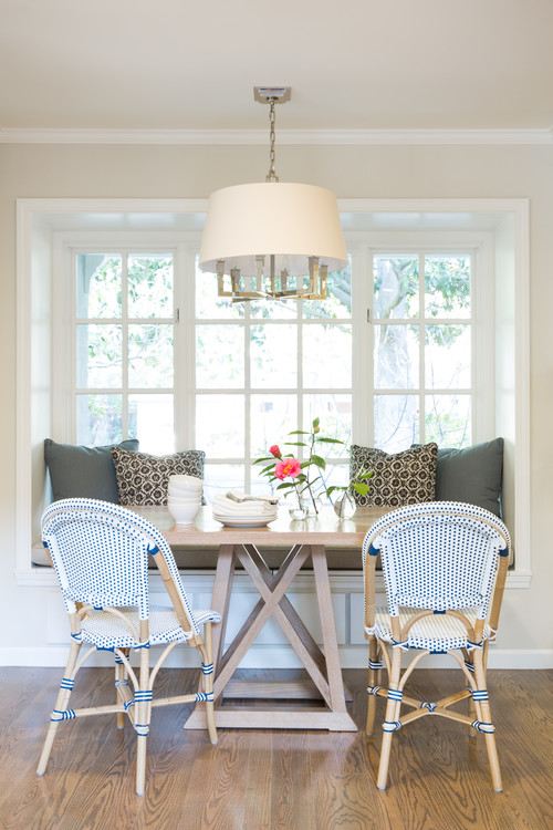 Built-in Breakfast Nook Banquette with a Window Seat