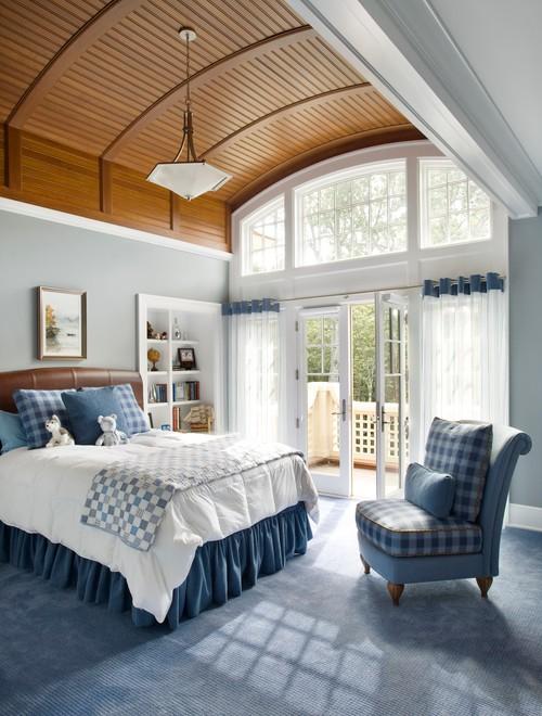 Modern Farmhouse Bedroom with Checkered Decor