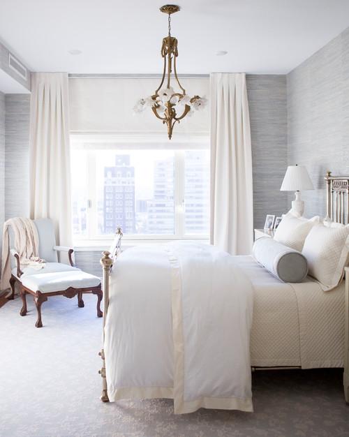 Modern Farmhouse Bedroom with Cream and Gray Decor