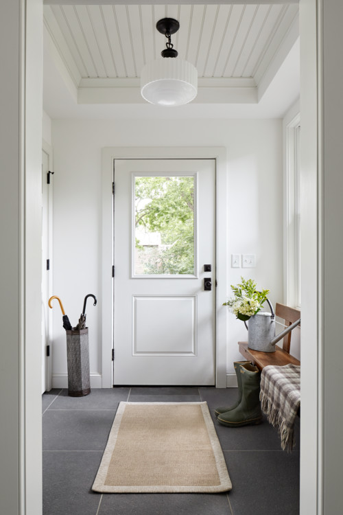 Modern Farmhouse Entryway White Door with Large Window