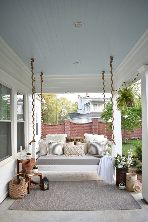 Modern Farmhouse Porch with Rope Swing