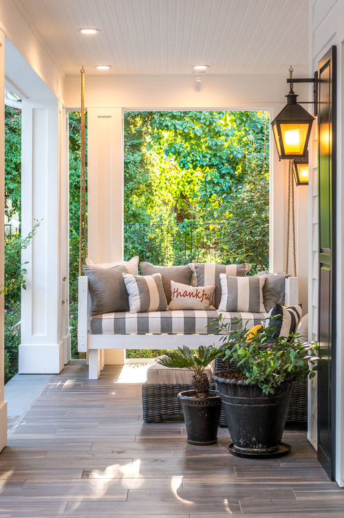 Modern Farmhouse Porch with Swing