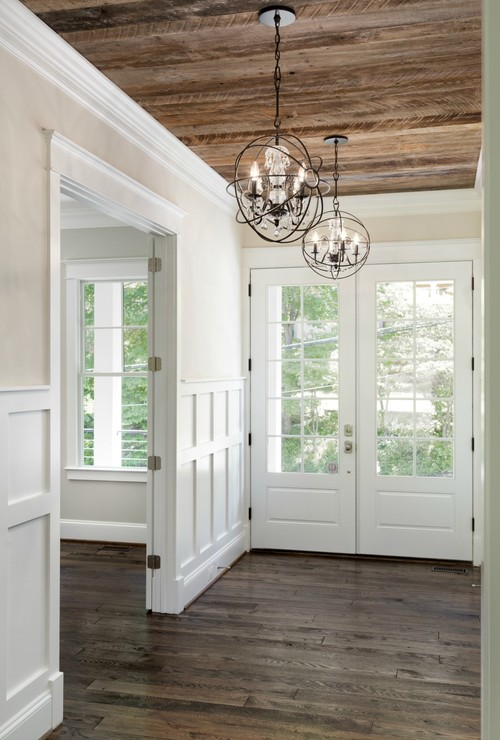 Modern Farmhouse Reclaimed Wood Entrance Ceiling