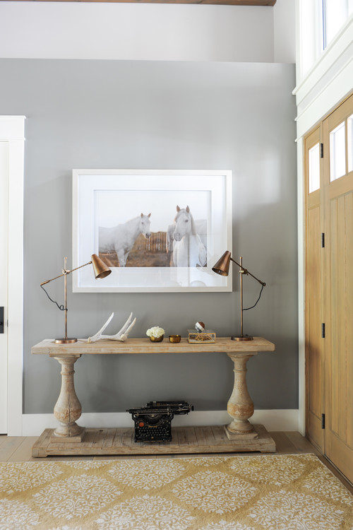 Modern Farmhouse Rustic Wooden Entry Table