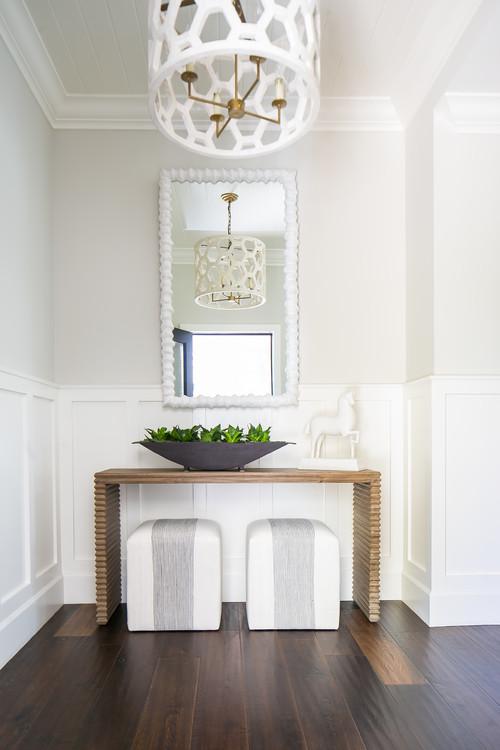 Modern Farmhouse Unique Wooden Entry Table