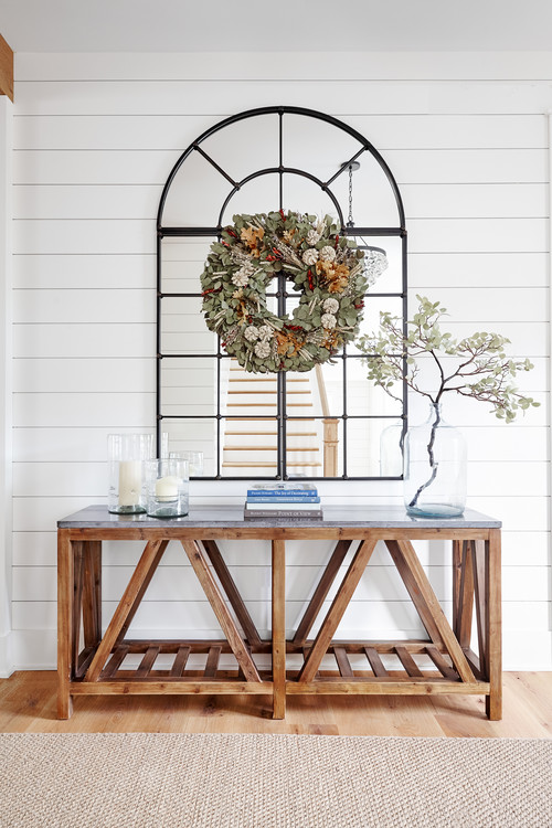 Modern Farmhouse Wooden Entry Table
