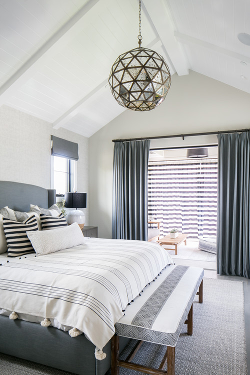 Modern Farmhouse Beach Home Bedroom