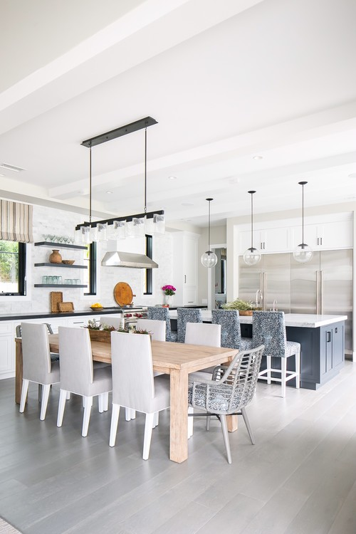 Modern Farmhouse Beach Home Dining Room