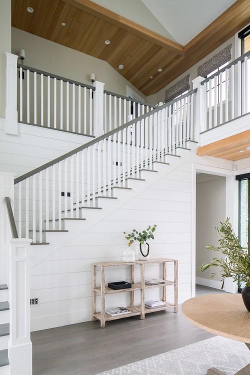 Modern Farmhouse Beach Home Entryway Stairs