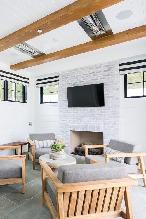 Modern Farmhouse Beach Home Indoor Patio