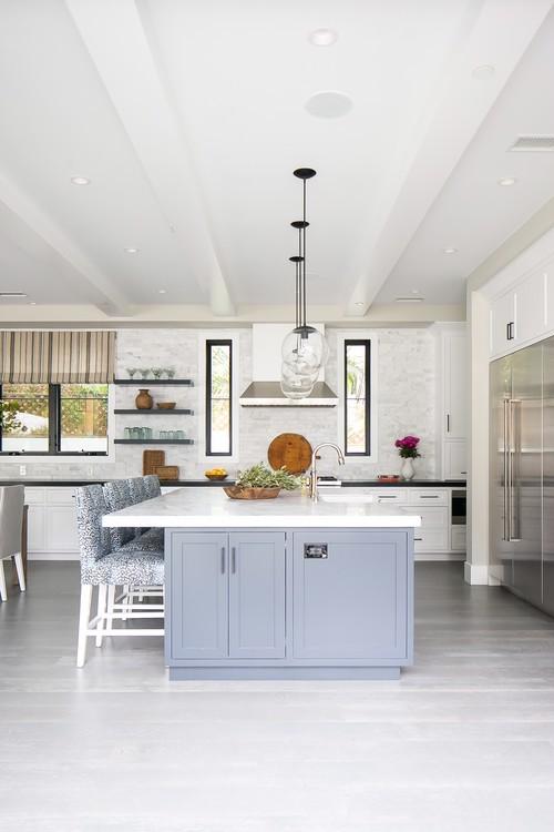 Modern Farmhouse Beach Home Kitchen