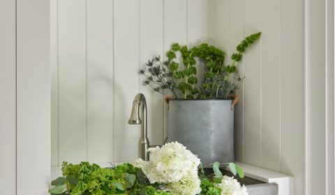 Modern Farmhouse Entryway Farmhouse Sink