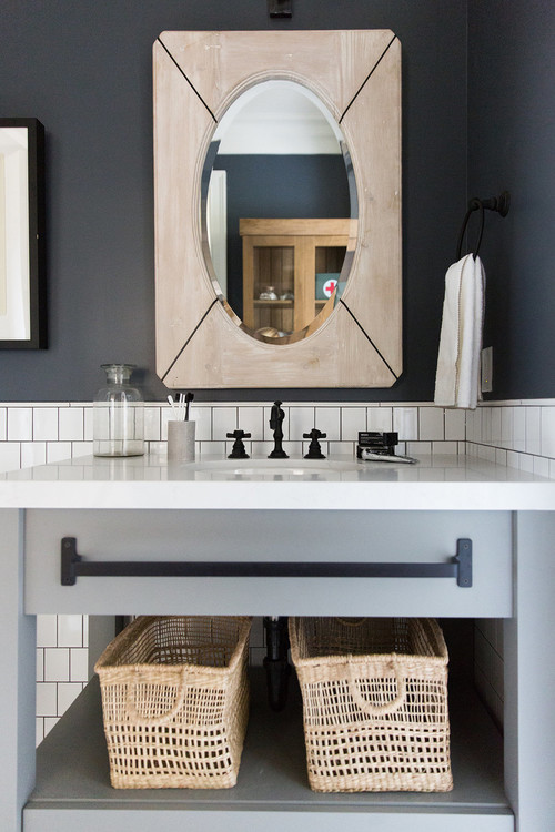 Modern Farmhouse Mountain Home Basement Bathroom Vanity