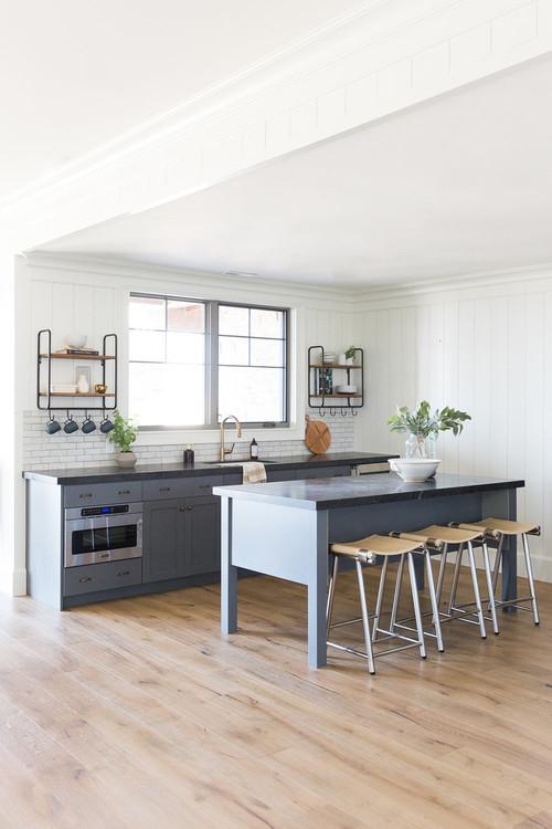 Modern Farmhouse Mountain Home Basement Kitchen
