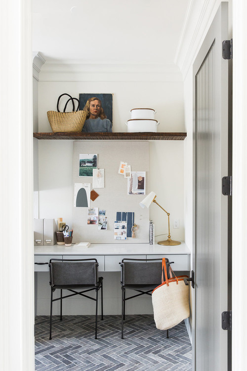 Modern Farmhouse Mountain Home Laundry Room with Home Office
