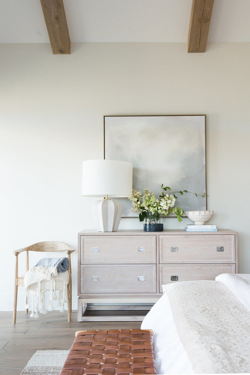 Modern Farmhouse Mountain Home Neutral Bedroom Dresser