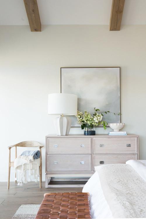 Modern Farmhouse Mountain Home Neutral Bedroom Dresser