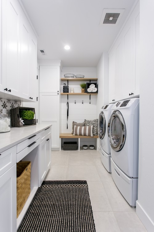 Modern Farmhouse Mudroom and Laundry Room