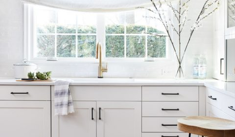 Modern Farmhouse White Kitchen Sink Area