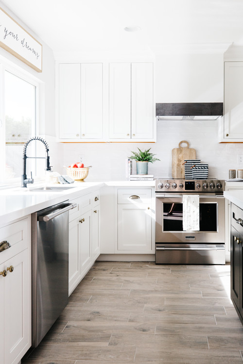 Modern Farmhouse Black and White Kitchen