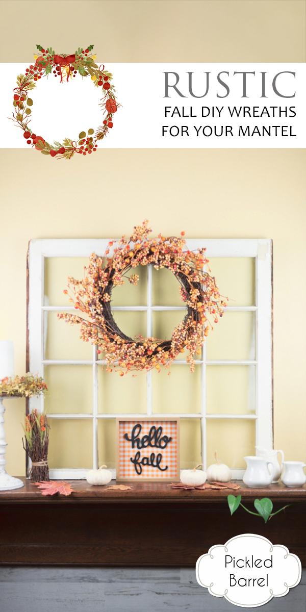 Rustic Fall DIY Wreaths   diy wreaths   fall   fall home decor   fall wreaths   home decor   rustic