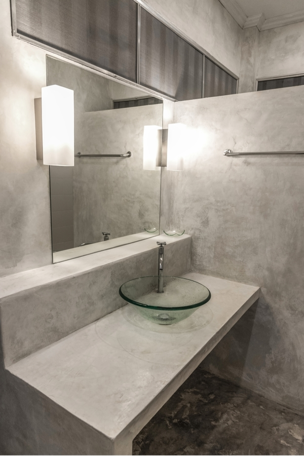 Cement Houses: bathroom