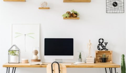 DIY Rustic Shelves for the office