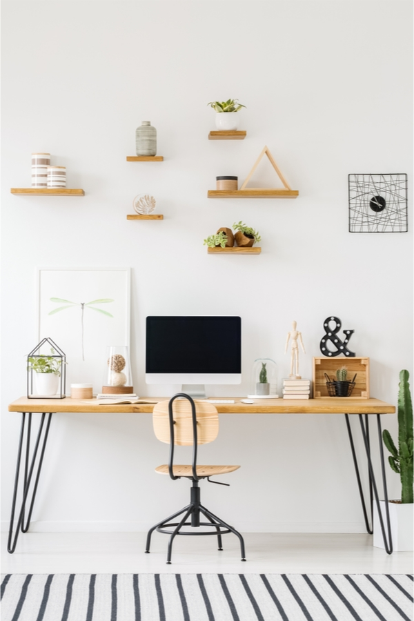 DIY Rustic Shelves For The Office | DIY | DIY rustic shelves | rustic | office shelves | home decor