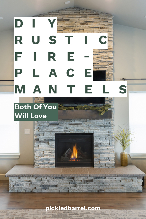 DIY rustic fireplace mantels both of you will love
