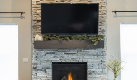 DIY rustic fireplace mantels