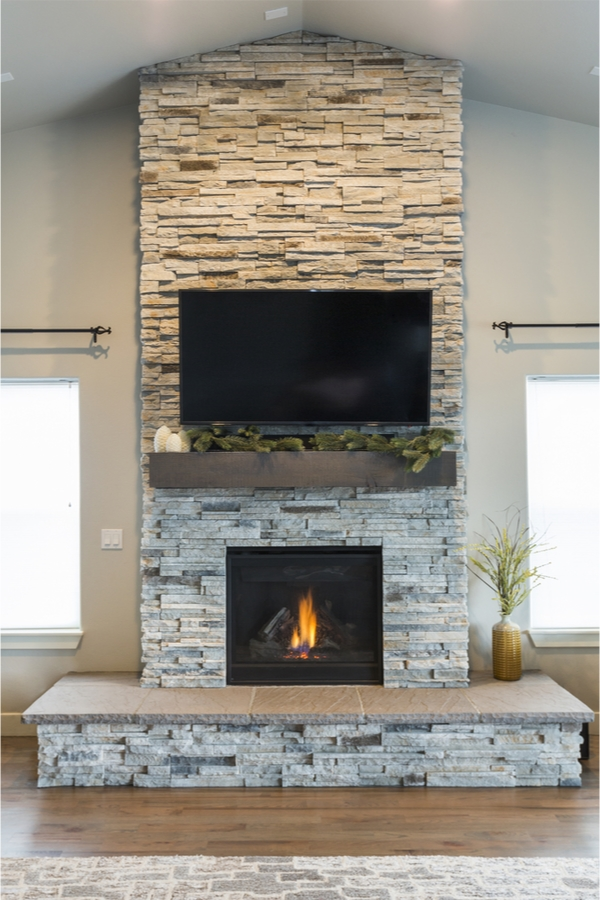 DIY rustic fireplace mantels