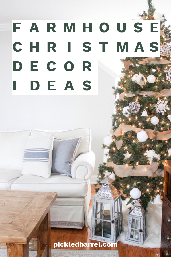 Farmhouse Christmas decor has got to be one of my favorites. You know what I mean, buffalo check everywhere. So, we wanted to share a few farmhouse Christmas decor ideas with you. Take a look and see which one is your favorite. Merry Christmas #farmhousechristmasdecor #christmasdecor