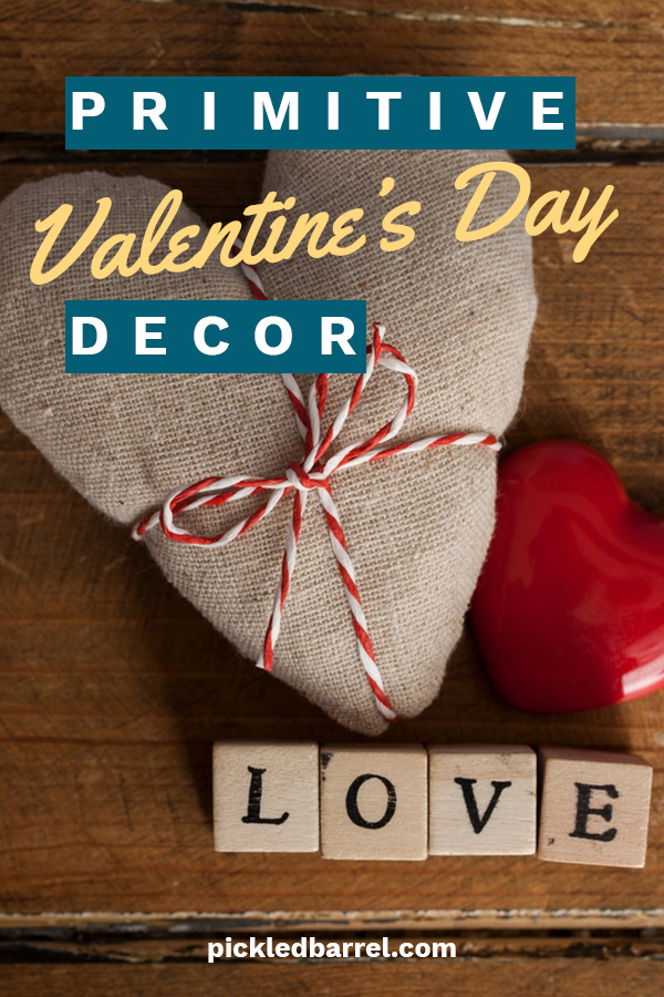 Valentine's Day is such a great holiday. Everybody is focusing on love. The world could use more days like this. If you love Valentine's Day decor, we have some great ideas for you. Primitive decor provides a great look for Valentine's. It is simple and heartfelt. Show your love of the holiday by decorating your home with primitive Valentine's Day decor. We can show you how. Keep reading to learn more.#primitivevalentinesdecor #holidaydecor