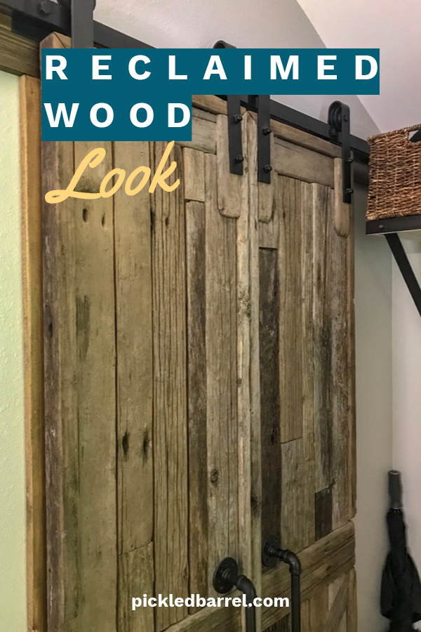 Whether you live in a log cabin, a modern farmhouse, or a slick urban apartment, a touch of rustic goes a long way. If you want the reclaimed wood  look, we have some easy tips on how to get it using things like chalk paint and stain. Easy DIY ideas for a weekend project. Go rustic with a reclaimed wood look you did yourself. #reclaimedwood #rusticwood #diyideas