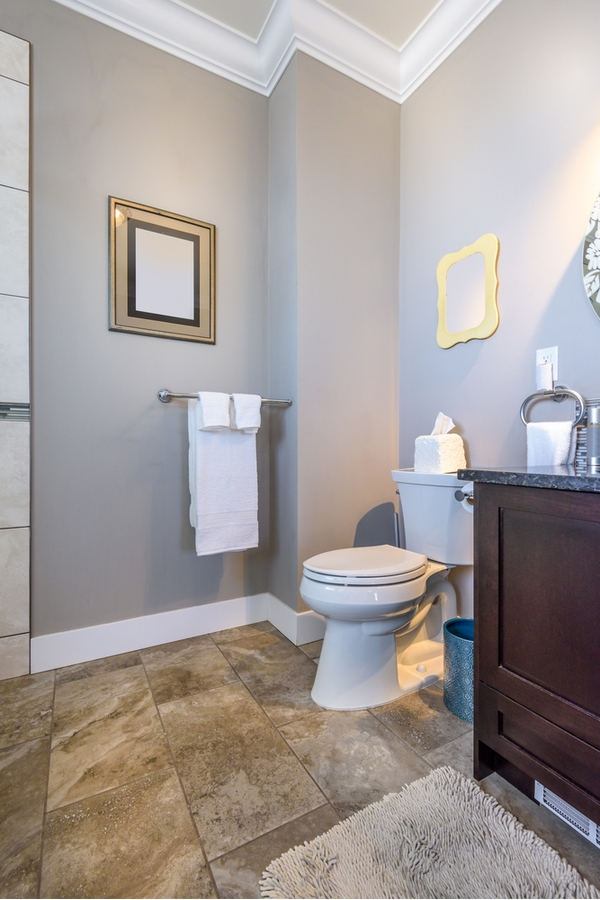 Utilizing and decorating a small bathroom can be tricky, but it is possible to have a charming modern farmhouse bathroom in a small space! Grey and white are classic colors for modern farmhouse bathrooms.