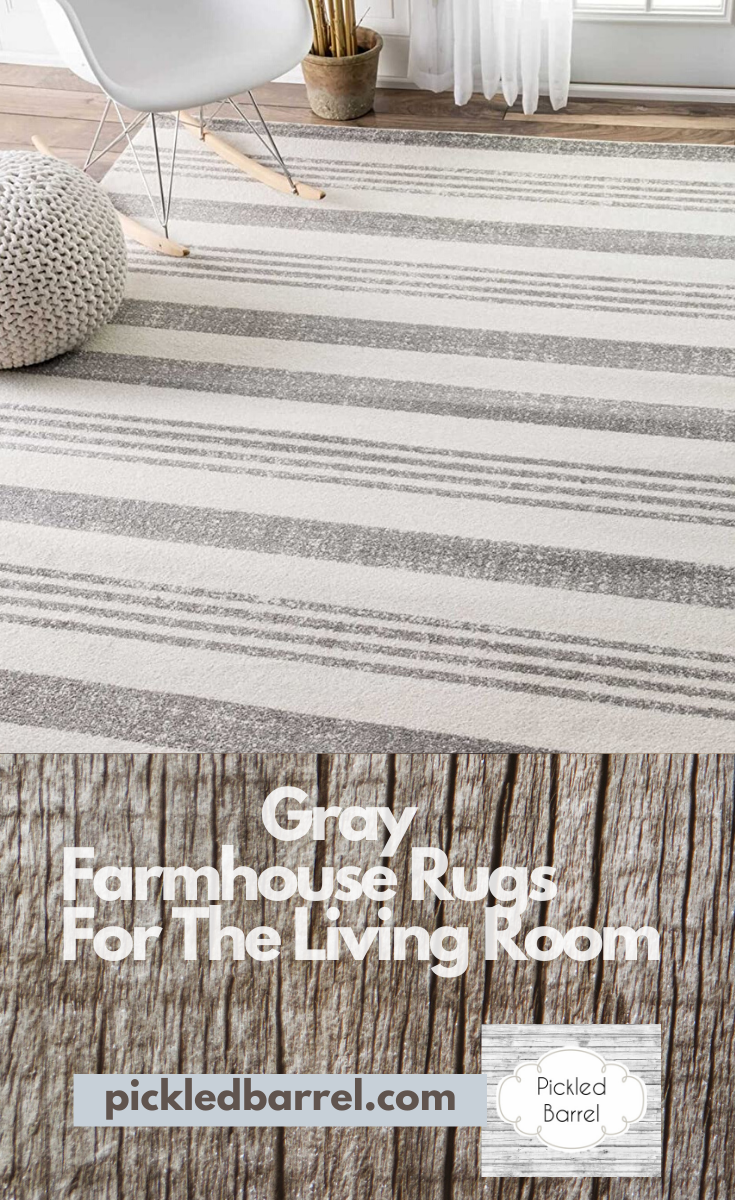 A beautiful wood floor needs a farmhouse rug to finish the decor and personalize the space. Choosing the right farmhouse rug for your living room requires ideas that fit well with your space. I have some ideas that will help you get just the right look! #pickledbarrelblog #farmhouserug #farmhouse