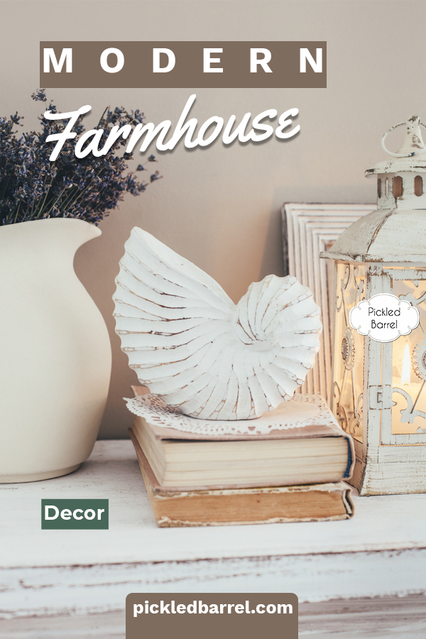 Everything modern farmhouse decor to inspire every room in the house. From farm-fresh kitchen ideas to ways to decorate like Joanna Gaines--it's all here! #pickledbarrelblog #modernfarmhousedecor