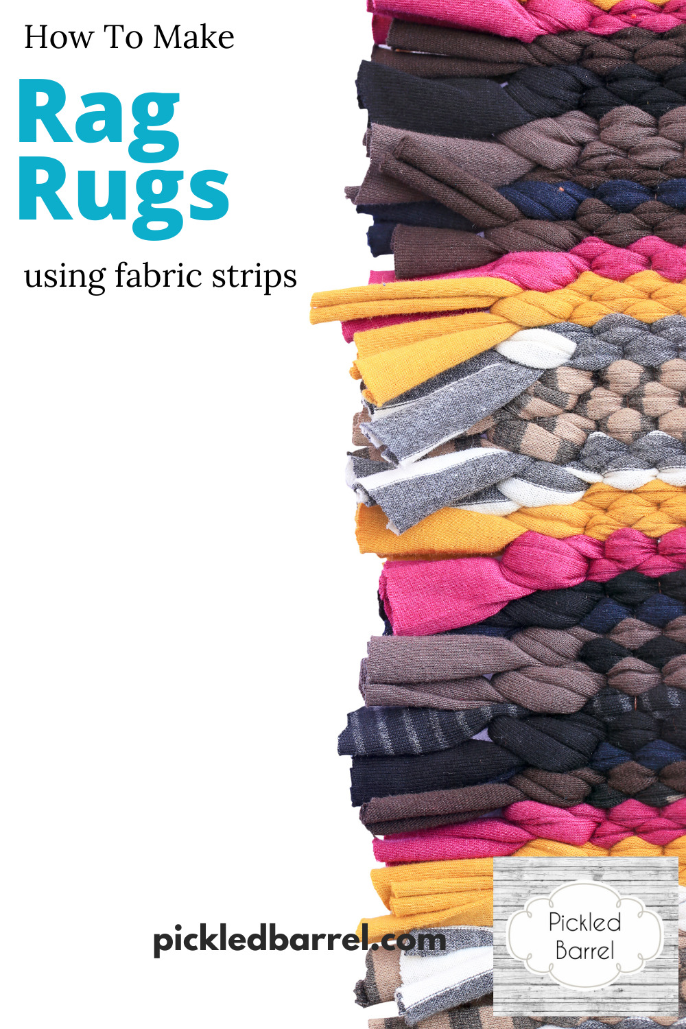 If you have a hardwood floor in your bedroom, a rag rug makes a perfect addition to not only keep the tootsies warm, but also to make the room warm and cozy, too! #pickledbarrelblog #ragrugs #diyragrugs #ragrugsdiy