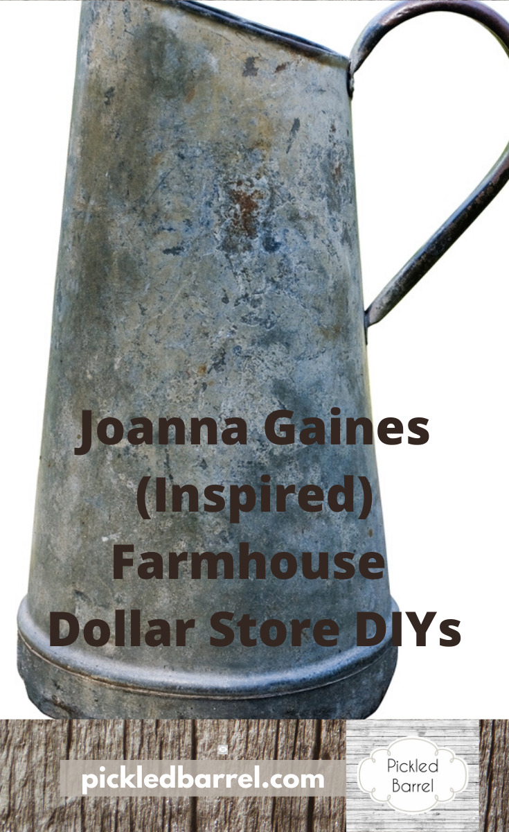 The Dollar Store is a must-shop location if you are looking for farmhouse DIY ideas. The store is affordable and easy to find ideas that make beautiful farmhouse decor. So, keep reading to learn more. #dollarstorediy #farmhousediy #diyideas