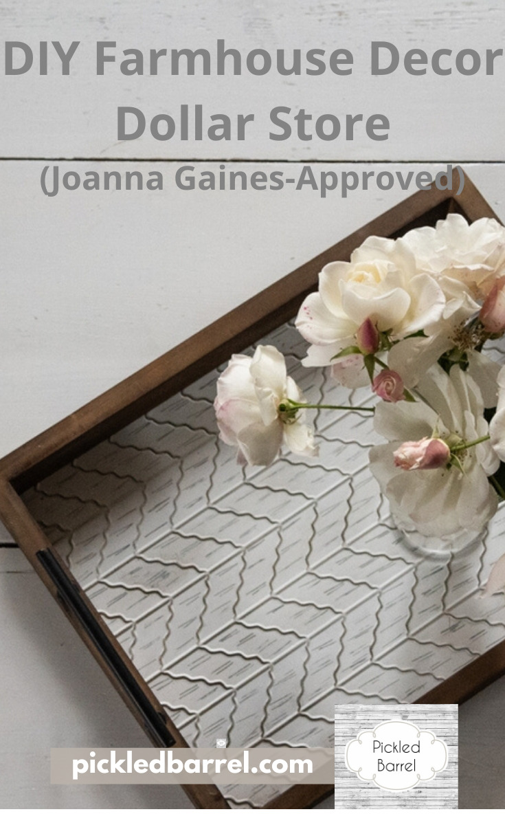 I have to admit, Fixer Upper is a favorite of mine. I love what Chip and Joanna do to the homes, but it's the decor that really gets me turned on (In a decor sort of way). That's why I love these Joanna Gaines approved farmhouse Dollar Store DIY projects. They rock! Not just because they look awesome, but it's also because they are so affordable. I'm sure you can't wait to check them out. You can do that by reading on. #dollarstorediy #farmhousediyprojects #joannagainesfarmhousedecor
