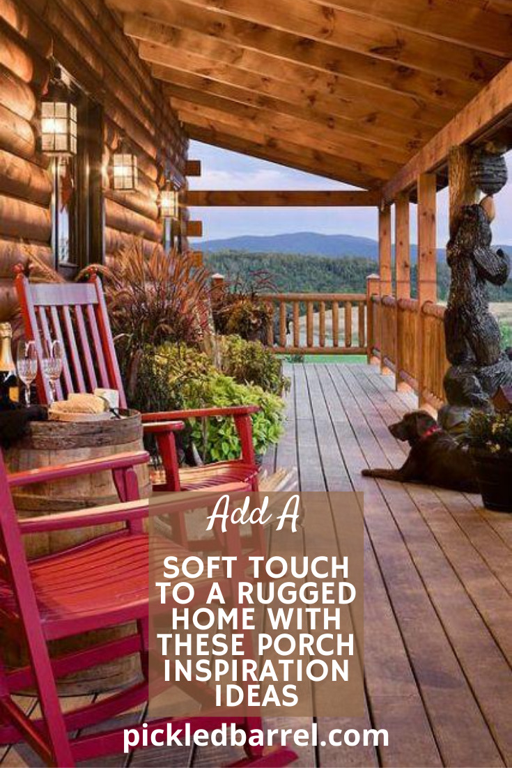 Be prepared to be dazzled with these beautiful, yet rustic front porch decor ideas! #pickledbarrelblog #ruggeddecor #decoratingideas