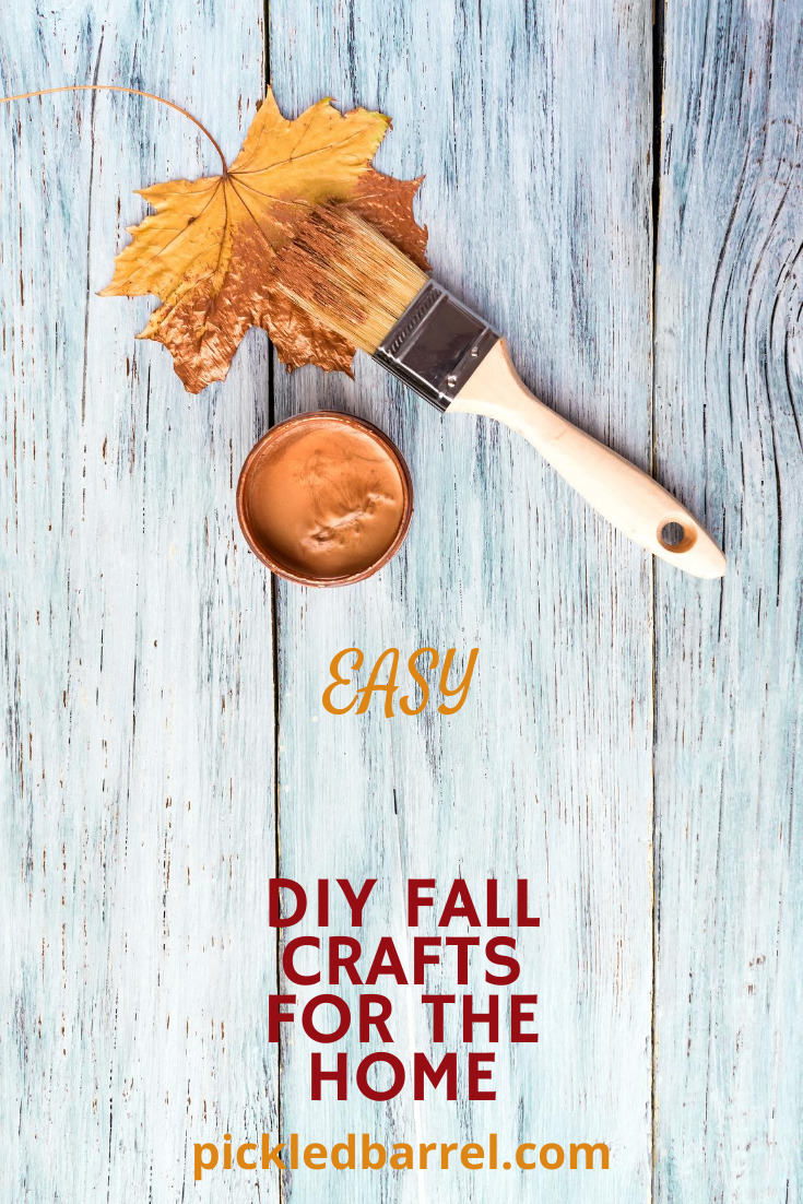 Looking for a fun fall craft? Needs to be easy? No problem. Here are some great ideas to get you going! #pickledbarrelblog #fallcrafts #craftideas
