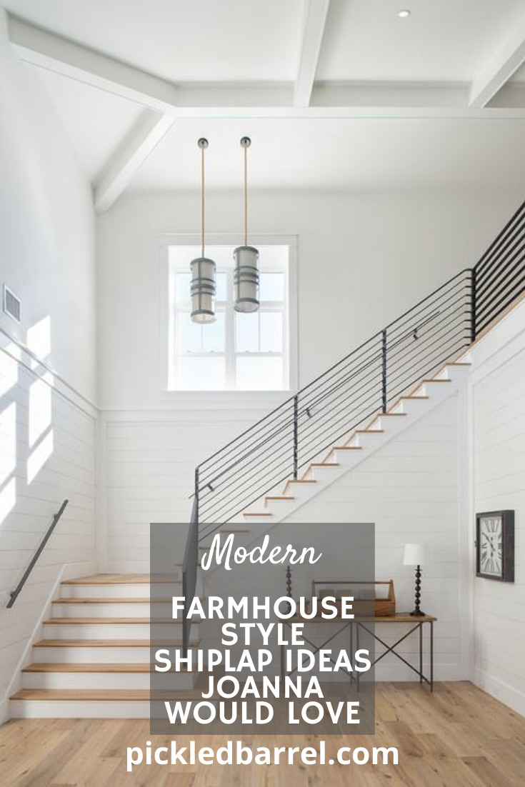 It's hard to go too wrong with shiplap, but these ideas are all home runs! So, get out to the ballpark already! #pickledbarrelblog #shiplap #modernfarmhouse