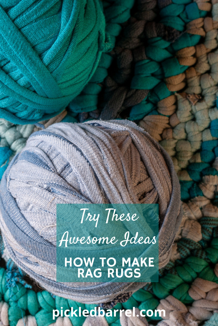 Your living room will look amazing and you will have a new conversation piece when you show your friends your own DIY rag rug made from ... yeah, rags! #pickledbarrelblog #ragrugs #diyragrugs #easydiyragrugs